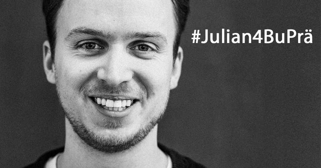 Julian4BuPrä/></p> <p>Mehr Informationen zu Julians Kampagne: <a href=